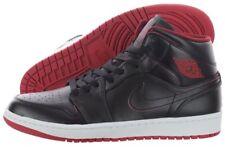New Nike Air Jordan Retro 1 Mid Shoes Black Gym Red White 554724-028 MENS SZ 8