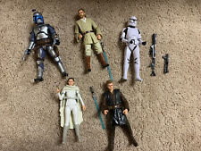Star Wars Black Series Attack Of Clones Lot 5 Amazon Jango Obi Wan Padme Clone