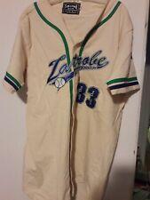 Custom Baseball Rolling Rock Beer Latrobe #33 White Button Down Jersey New sz L