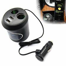 2 Way Multi Car Cigarette Lighter Socket Splitter Dual USB Charger Power Adapter