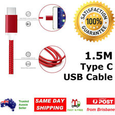 Braided USB 3.1 Type C USB-C to Male Data Cable Google 5x Samsung S8 Plus Note 8