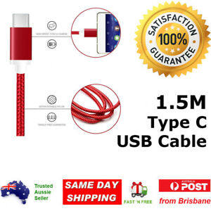 Braided USB 3.1 Type C USB-C Charger Cable for Android Samsung Note S Series