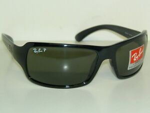 New RAY BAN Sunglasses SIDESTREET  Black Frame  RB 4075  601/58  Polarized Green