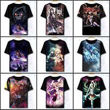 Sword Art Online Kirito/Asuna Unisex T-shirt Short Sleeve Tee Cosplay#CM-218