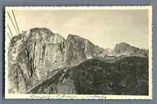 France, Chamonix, Le Brévent   Vintage silver print. Postcard paper. Carte Posta
