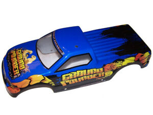 "Redcat Ground Pounder 4x4x4 Truck ""DAMAGED"" Pre-Painted Lexan Body ""GP"" Theme"