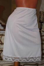 Nuevo Blanco Ajustable Slip Satén CHEMISE Camisón Enagua completo por encima de rodilla