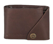 WALLET LEATHER BILLABONG BROWN NEW S MENS 2 1 GIFT NEW MEN SCOPE RRP 60 TAGS TAG