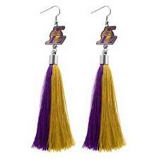 Los Angeles Lakers Tassel Earrings NBA Authentic Made by Little Earth New