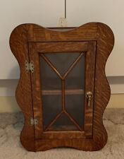 Vintage Oak Wall Hanging Cabinet