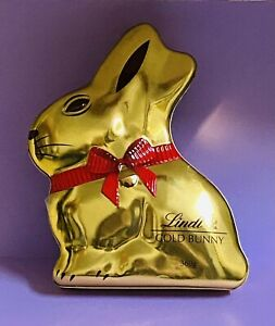 Large Lindt Gold Bunny Empty Tin Pre 2017