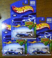 Hot Wheels lot of (3) 2002 Treasure Hunt Panoz LMP-1 Roadster S real riders