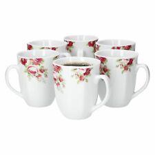6tlg. Kaffeebecherset Rosentraum 350ml Tee-Pott Jumbotasse Trinkbecher Porzellan