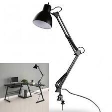 Black Flexible Swing Arm Clamp Mount Lamp Office Studio Home Desk Table Light