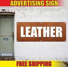 Leather Banner Advertising Vinyl Sign Flag shop store boutique salon sales open