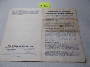 #2328-6 lionel GP-7 switching loco instruction