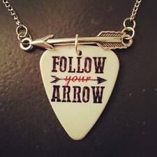 Follow your arrow country southern girl guitar pick necklace arrow charm cute