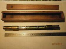 MESURES : NIVEAU 29 cm - 3 fenêtres - laiton -Bel  objet de collection