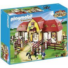 Playmobil N°5221 : Le haras avec chevaux et enclos - NEUF mais ouvert