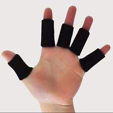 10pcs Sports Basketball Flexible Finger Sleeves Wraps Thumb Splint Support Brace