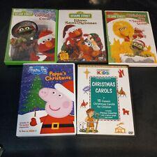 Lot Of 5 Sesame Street Christmas DVD,elmo saves Christmas,peppa pig Christmas