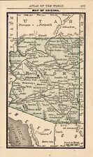 1888 Antique ARIZONA Map RARE MINIATURE Vintage Map of Arizona State Map 8239