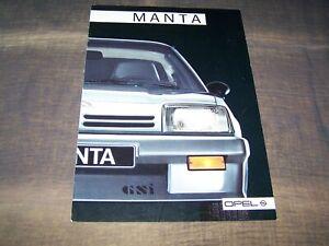 TOPRARITÄT Herrlicher Prestige Prospekt Opel Manta von 1986 !!!