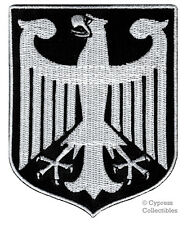 BLACK GERMANY EAGLE SHIELD PATCH EMBROIDERED IRON-ON GERMAN Aufnäher COAT ARMS