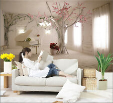 Prepasted Mural Wallpaper Wall covering Flower Tree Photo Wall 82.7X55.5'' BZ765