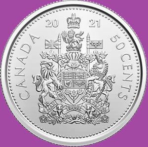 2021 Canada Half Dollar Coin. Mint Bri. UNC 50 Cents 50c