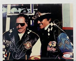 Dale Earnhardt / Richard Petty Signed Autograph 8 x 10 Photo W/ JSA Cert. Nascar