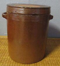 Ancien  pot en grés saloir condiments graisse 3