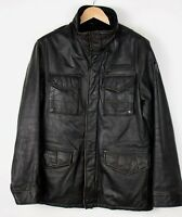 STRELLSON Men Casual Leather Jacket Overcoat Size 50 (M) ARZ26