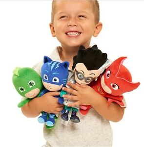 4pcs Disney PJ Masks Catboy Owlette Gekko Plush Doll Stuffed Animal Toy Set Kids