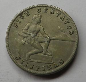 Philippines 5 Centavos 1944 Copper-Nickel-Zinc KM#180a