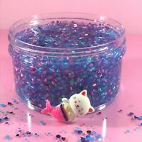 "Bingsu Beads SLIME Clear ""PURRMAID SPLASH"" Crunchy Charm Choice Scent 6 8 oz"
