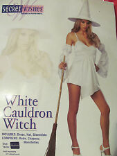 Ladies Sexy White Cauldron Witch Size M Halloween Costume