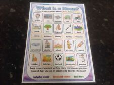 what is a noun types of nouns poster teaching and learning the alphabet display