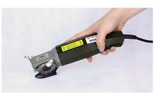 """Electric Rotary Fabric Cutter Scissors - Handheld 2"""" Round Knife Cloth"""