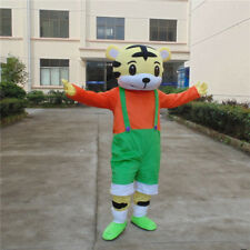 Adults Tiger Mascot Costume Suits Cosplay Halloween Party Outfit Dress Animal US