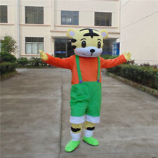 2018 Adult Tiger Mascot Costume Cosplay Birthday Party Outfit Dress Animal Suit
