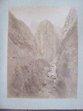 2 GRANDES PHOTO ANCIENNES 1890 MONTAGNES GORGES TUNISIE