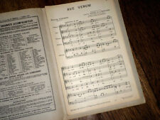 Ave verum transcrit 4 voix mixtes orgue par Harvard de La Montagne 1951 Sabadini