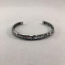 Beautiful Silver Bohemian Bangle, cuff, jewellery with cutout detail
