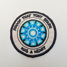 Iron man Proof That Tony Stark Has A Heart embroidered Patch 3 inches