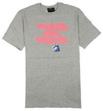 NIKE Watch Me Work T-Shirt sz L Large Heather Gray Pink Trainer Finger Max Bo