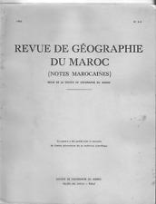 NOTES MAROCAINES REVUE DE GEOGRAPHIE DU MAROC n°3-4 1963