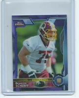 2015 Topps Chrome MINI FB #117 Brandon Scherff ULTRA RARE PURPLE REFRACTOR RC !!