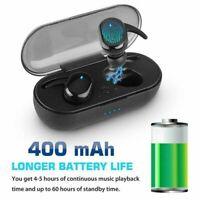 Waterproof Bluetooth 5.0 TWS True Wireless Touch Mini Earbuds Headphone Headset