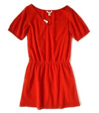 J Crew Factory - Womens XS  - NWT - Cerise Red Gauze Lined Drop Waist Dress